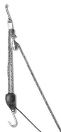 Carolina North Hang 'em High Hand Chain Hoist, Hook Mount, 250 lbs Capacity, Lift, Headroom