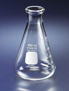 Flask, ERLENMEYER NARROW MOUTH ~ PYREX® GLASS 2L