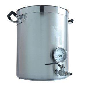 Brew Kettle: Stainless Steel Stock Pot for Homebrew (Kettle with a Valve and Thermometer, 10 Gallon)