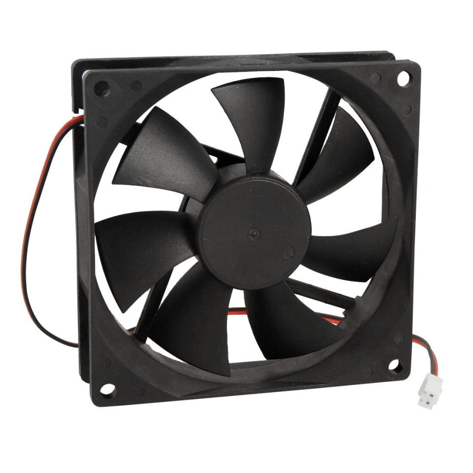 90mm x 25mm DC 12V 2Pin Cooling Fan for Computer Case CPU Cooler