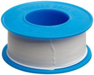 "Dixon Valve TTB75 PTFE Industrial Sealant Tape, -212 to 500 Degree F Temperature Range, 3.5mil Thick, 520"" Length, 3/4"" Width, White"