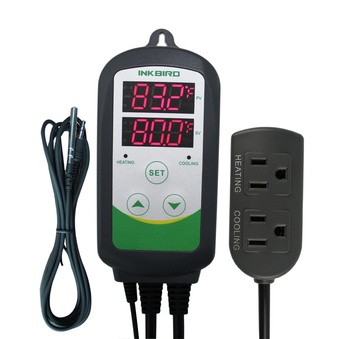 Inkbird ITC-310T Pre-Wired Digital Heating /& Cooling Temperature Controller 110V