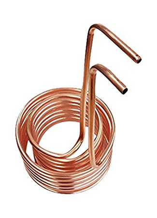 """Click to open expanded view Quick Chill Double Coil Immersion Chiller with 3/8"""" Tubing, Copper"""