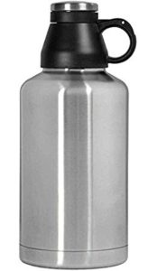 Kegco KC EBG-64SS Screw Cap Beer Growler with Double Wall, 64 oz, Stainless Steel/Brushed Finish