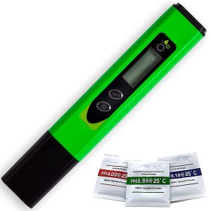 Digital pH Tester - High Accuracy Meter Of ±0.05 pH - Suitable For Water, Food, Aquarium, Pool & Hydroponics - Buffer Solution Included