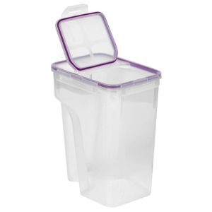 Snapware 4014 Airtight 22.8-Cup Rectangular Food Storage Container with Fliptop Lid, Purple