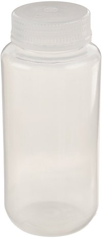 United Scientific 33309 Polypropylene Wide Mouth Reagent Bottles, 500ml Capacity (Pack of 12)