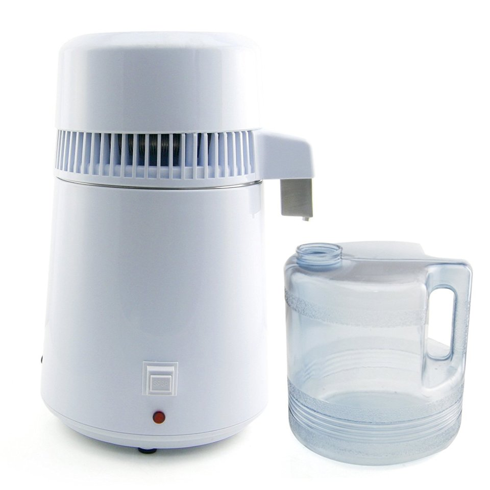 CO-Z 4 Liter Pure Water Distiller Set with Connection Bottle and Stainless Outlet