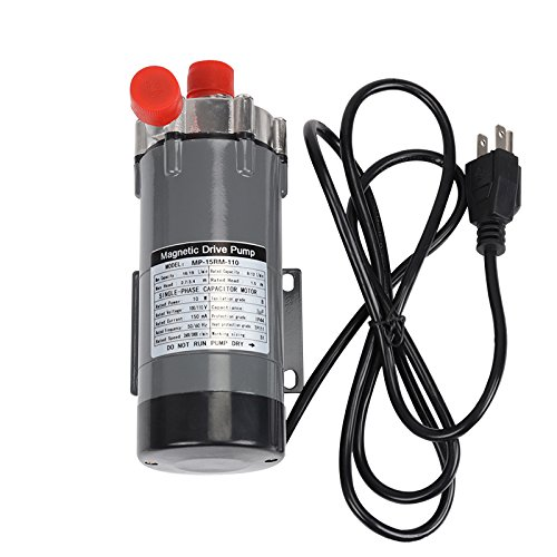 """Magnetic Drive Pump,Ferroday Food Grade High Temperature Stainless Head Magnetic Pump 15RM with 1/2""""NPT thread Home Brew"""