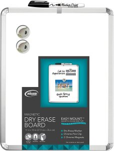 """Board Dudes 11"""" x 14"""" Metalix Magnetic Dry Erase Board Colors May Vary (CXY22)"""