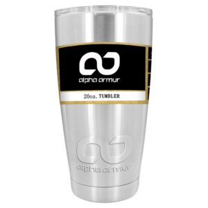 Alpha Armur 20 Oz Vacuum Insulated Stainless Steel Tumbler
