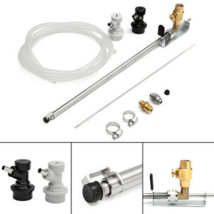 Stainless Beer Gun Homebrew Kegging CO2 Bottle Filler With Ball Lock Connector