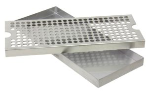 """Kegco KC DP-125 Beer Drip Tray Surface No Drain Mount, 12"""", Stainless Steel"""
