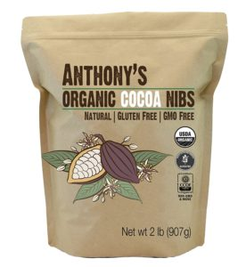 Organic Cacao / Cocoa Nibs, 2 Pounds by Anthony's, Batch Tested and Verified Gluten-Free (32 ounces)