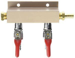 """Air Distributor 5/16"""", CO2 Manifold (Select 2 , 3 or 4 Way) (2 Way)"""