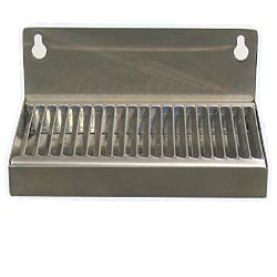 """Beverage Factory DP-117ND Beer Drip Tray 6"""" Stainless Steel Wall Mount with No Drain"""