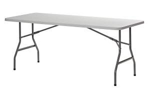 Sandusky Lee PT7230 Commercial Folding Utility Table, 6', White