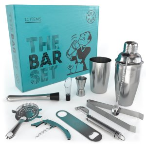 Home Bar Tools Set - 11-Piece - Stainless-Steel