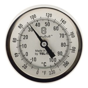 BrewBuilt Dial Thermometer - 3 in. Face x 2.5 in. Probe