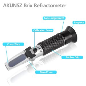 Brix Tester Beer Refractometer AKUNSZ Brix Refractometer & Gravity Tester - Specific Gravity 1.000-1.130 & Brix 0-32% - for Home Brewing