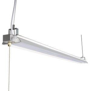 Hykolity 4ft 40w led shop garage hanging light fixture 4200 lumens 5000k daylight white 64w fluorescent equivalent