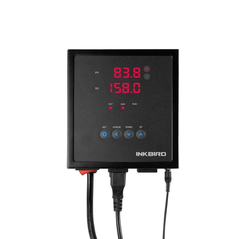 Inkbird IPB-16 15A Digital Pre-Wired PID Temperature Controller Thermostat with PT100 Probe, One SSR Output, One Relay Alarm Output, AC100V -240V
