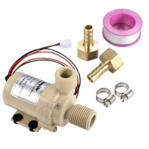 bayite BYT-7A006 DC 12V Solar Hot Water Heater Circulation Pump Low Noise 3M Discharge Head 2.1GPM