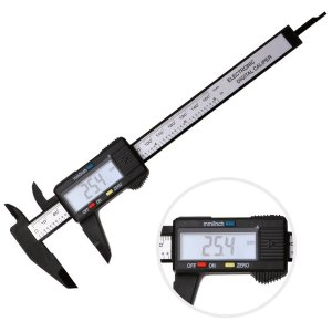 7TECH Electronic Digital Caliper Inch Metric Fractions Conversion 0-6 Inch150 mm Extra Large LCD Screen Auto Off
