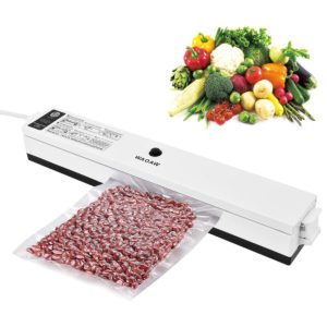 WAOAW Compact Vacuum Sealer Machine with Starter Kit for Food Sealers Vaccum Packing Plus 15Pcs Sealer Saver Bags
