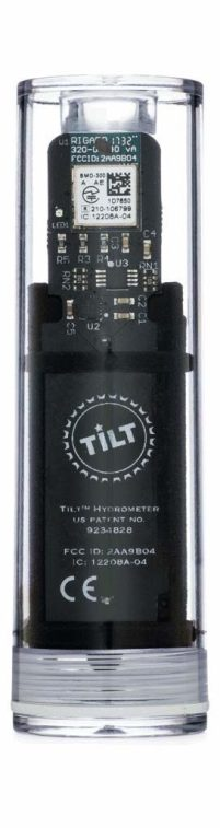 Digital wireless hydrometer and thermometer for smartphone or tablet (Black)