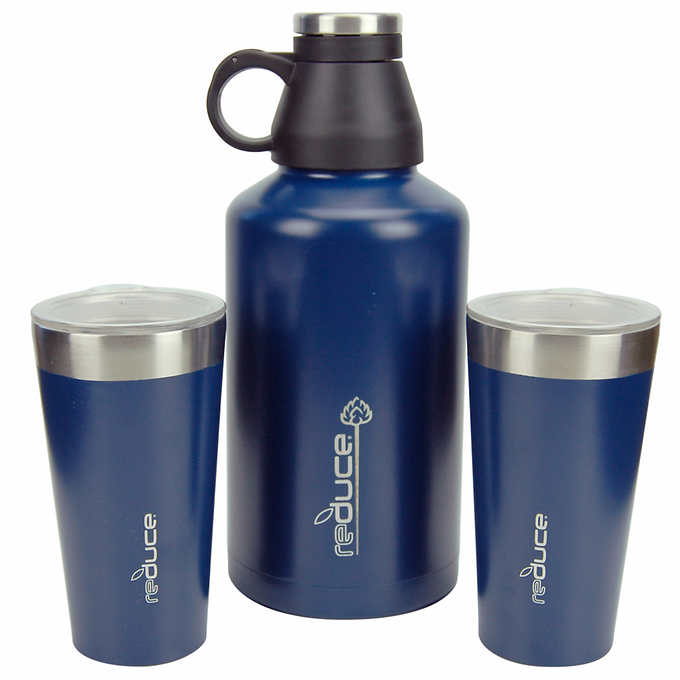 Reduce Growler & Steel Pint Set