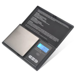 Digital Mini Scale, 200g 0.01g/ 0.001oz Pocket Jewelry Scale, Electronic Smart Scale with 7 Units, LCD Backlit Display, Calibration,Tare Function, Auto Off, Stainless Steel & Slim Design (200/0.01g)