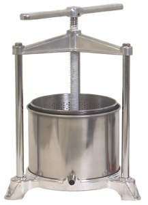 180 OZ. STAINLESS/ALUMINUM FRUIT PRESS