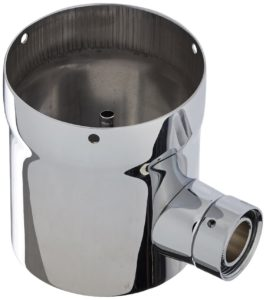 """Krome Dispense C517 3"""" Draft Beer Tower Extension Chrome Finish, Stainless Steel, Convert from A 2 Faucet to A 3 Faucet"""