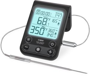 Lavatools OVT2 Element Digital Oven Thermometer for Oven, Grill, and Smoker Includes Dual-Sensor Stainless Temperature Probe