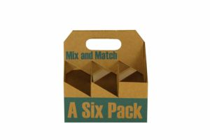 """Inno-Pak 096554618 Corrugated Beer Carrier, Mix-Match, 8"""" x 5.25"""" x 8.25"""" (Pack of 75)"""