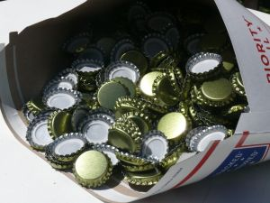 576 Lined Bottle Caps Bottling Beer Home Brew Brewing New Gold FREE SHIPPING!