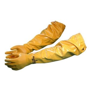 """Atlas 772 Large Nitrile Chemical Resistant Gloves, 25"""", Yellow, 1-Pair"""