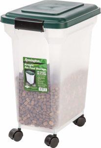 IRIS Remington Airtight Pet Food Storage Container, 22-Pounds, Hunter Green