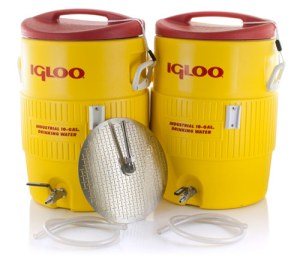 10 Gallon Igloo Cooler Mash Tun With False Bottom AND Hot Liquor Tank