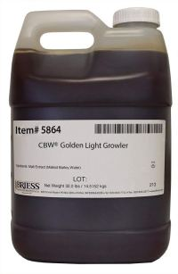 Briess 5864 Liquid Malt Extract 32 lb. Growler, Golden Light