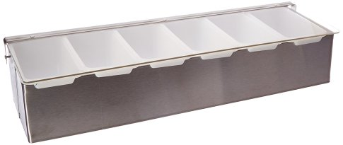 New Star 48049 Stainless Steel Condiment Dispenser with 6 Compartments