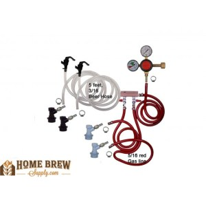 Double Faucet Basic Keg Kit - Ball Lock HK1200-DD