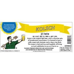 Palmer Premium Beer Kits - JZ Früh - Kolsch KIT98010
