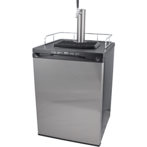 Single Tap Stainless Steel Kegerator KG351