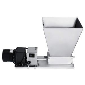 BestEquip 2 Roller Grain Mill Homebrew Electric Barley Grinder 40PRM Malt Crusher Mill with 11LBS Hopper for Grains Barley Grinding (2 Roller)