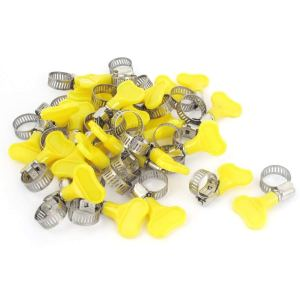 Uxcell a15062200ux0087 9mm-16mm Range Plastic Key Grip Worm Drive Hose Clip Tube Clamp 30pcs (Pack of 30)