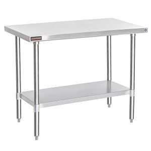 """DuraSteel Stainless Steel Worktable Food Prep 24''X48''X34""""Height - Commercial Grade Worktable - Fits for use in Restaurant, Business, Warehouse, Home, Kitchen, Garage"""