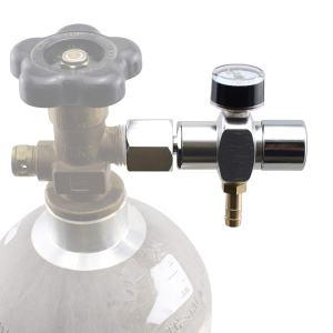 Micro CO2 Mini Regulator Keg Charger for Standard Homebrew CGA320 Tanks (0-60 PSI)