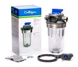 "Culligan WH-HD200-C Whole House Sediment Water 1"" HD CLR WTR Filter, Clear Bowl, Grey Cap"
